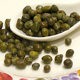 Capers in dish