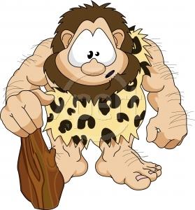 Royalty free caveman