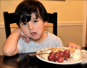 DO YOUR KIDS get to misbehave at the table in exchange for eating?